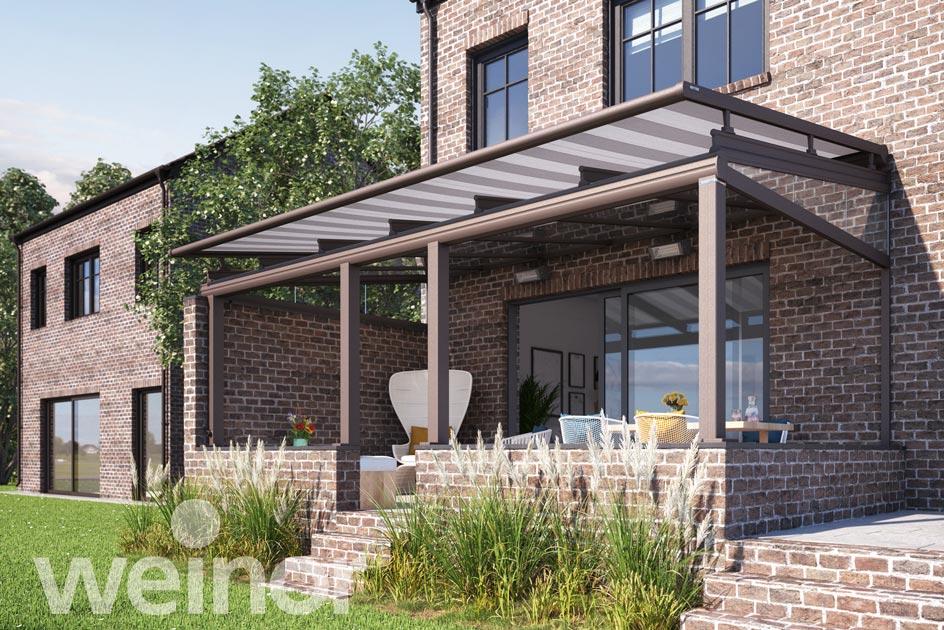 Überdachbeschattung für ein Terrassendach