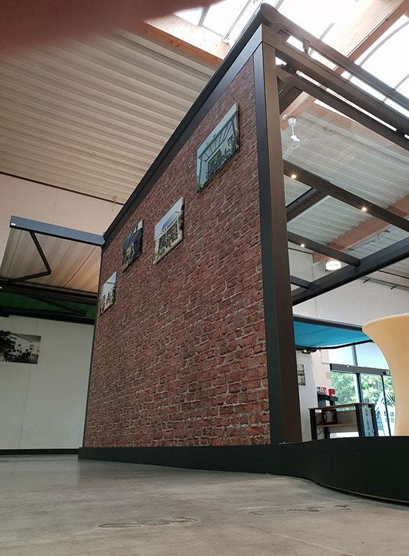 Ausstellungsraum für Dachterrassen