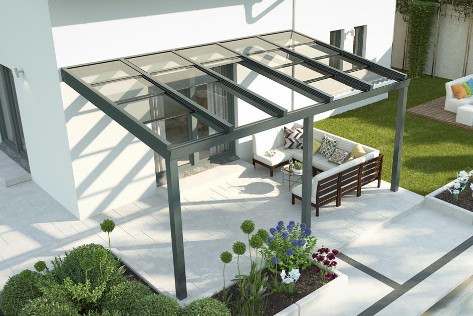 Terrassendach mit Schiebedach