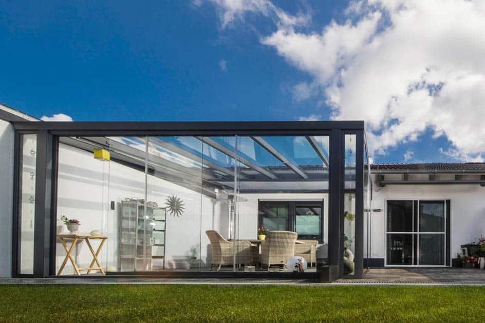 Wintergarten Anliegend, Glas
